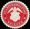 Siegelmarke Stadtverwaltung - Wriezen W0224374.jpg
