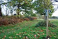 Signpost at a footpath junction in Penshurst Place Estate. - geograph.org.uk - 1029137.jpg