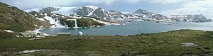 British Antarctic Territory - Signy Research Station and panorama, South Orkney Islands.