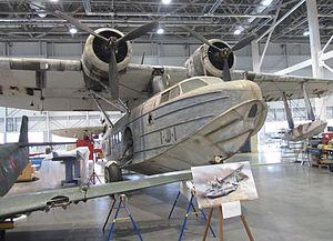 Sikorsky S-43 - Sikorsky JRS-1 under restoration at the Steven F. Udvar-Hazy Center