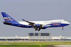 Silk Way Airlines Boeing 747-400 Kinader.jpg