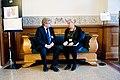 Simo Rundgren (cent) Finland och Ewa Bjorling, Sveriges samarabetsminister. Nordiska radets session 2011 i Kopenhamn.jpg