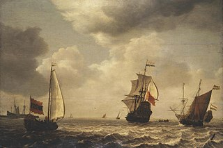Stormy Sea with Sailing Ships