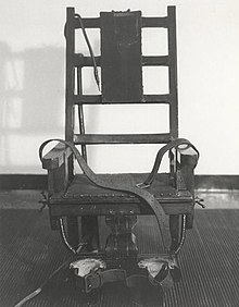 photo thank wikipedia of Old Sparky from Sing Sing.