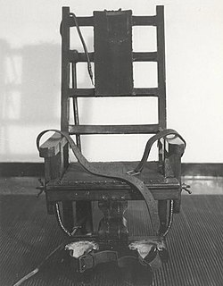 Probably the most infamous American electric chair - Old Sparky from Sing-Sing Prison