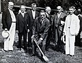 "Sir Henry Solomon Wellcome and others at a ""Ground Breaking Wellcome V0027784.jpg"