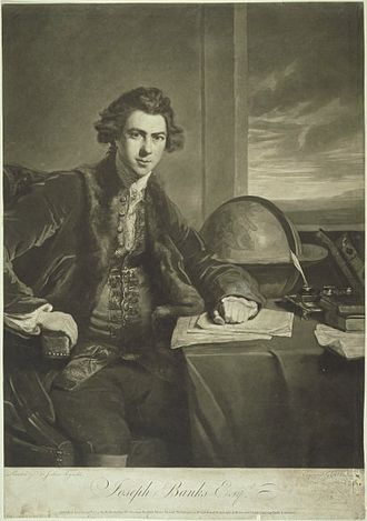 Society of Dilettanti - Image: Sir Joseph Banks when Mr Banks