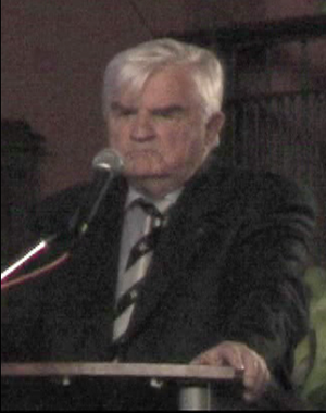 John H. Noble - John H. Noble while giving a speech in Nossen, Germany