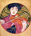 Six Themes about Music (Violin) by Fujishima Takeji (Hiroshima Museum of Art).jpg