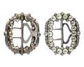 Skospänne av silver med glasstenar, 1700-tal - Hallwylska museet - 110488.tif