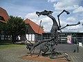 Skulptur von Wilfried Koch mit dem Lippische Landesmuseum..JPG