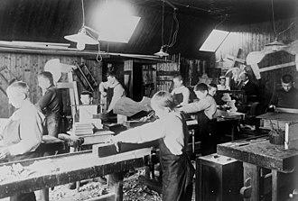 Falstad concentration camp - Woodwork class at Falstad