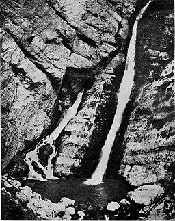Slap Savice nad Bohinjskim jezerom 1927