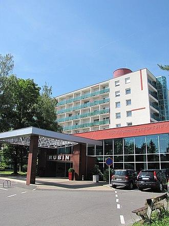 Dudince - Image: Slovakia, Dudince (Gyűgy), Hotel Rubin