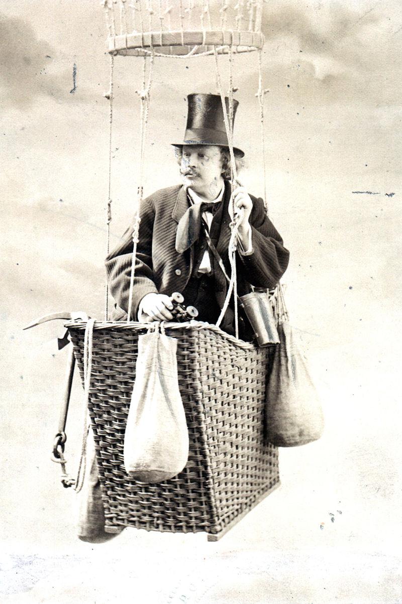 Obrázek 1: Portrét Nadara v balónu, ze sbírky Smithsonian Institution