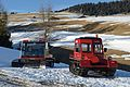 Snow vehicles Prinoth P15 and Snow Trac on Alpe di Siusi Seiseralm.jpg