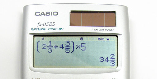 Solar calculator casio fx115ES crop