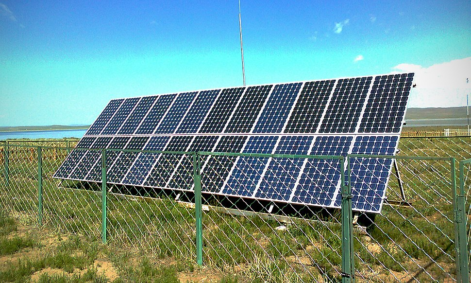 Solar panels in Ogiinuur