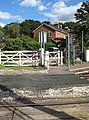 Somerleyton railway station - level crossing at end of Station Road - geograph.org.uk - 1505938.jpg