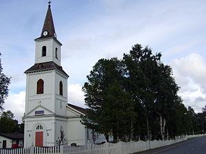 Sorsele - Sorsele Church in August 2008