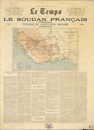 Le Temps (Paris) - Front page of Le Temps from March 1890.