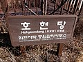 South Korea Seoul Hohyeondang Park Sign.jpg