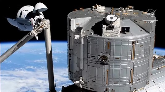 File:SpaceX's first reused Crew Dragon Endeavour, docks at International Space Station (ISS) - 25544U.webm