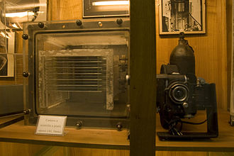 Spark chamber - A spark chamber at the physics museum of the Sapienza University of Rome