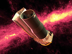 Artist rendering of the Spitzer Space Telescope