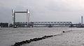 Spoorbrug in Dordrecht gezien vanaf Veerplein in Zwijndrecht III.jpg