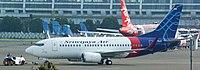 Sriwijaya Air Boeing 737-524(WL); @CGK2017 (cropped).jpg