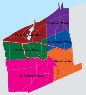 St. Catharines City Council - The Six Municipal Wards of St. Catharines