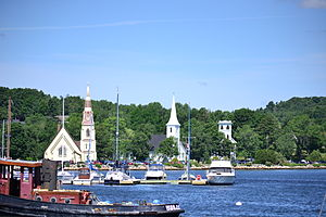 Mahone Bay (town) - The town viewed from the east with its three churches visible