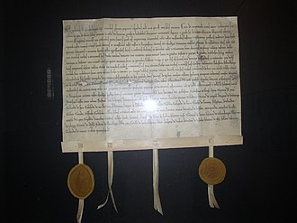 Halle (Westfalen) - Replica of the swap charter