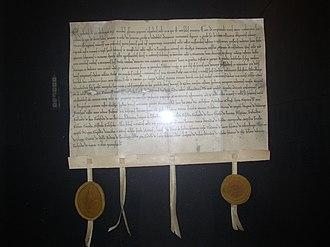 Halle (Westfalen) - Replica of the swap charter