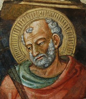 Bicci di Lorenzo - Fresco of Saint Jude the Apostle, painted in Florence Cathedral
