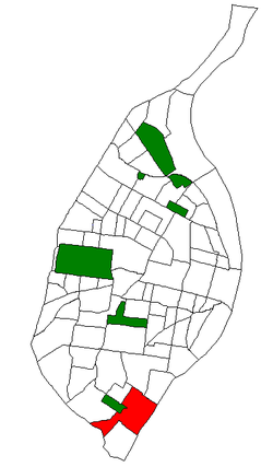 Location of the Carondelet neighborhood within St. Louis