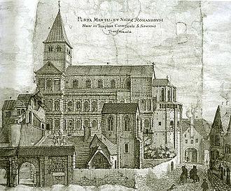 Porta Nigra - Porta Nigra (aka Porta Martis) in 1670