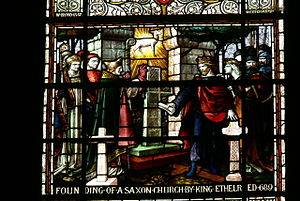 Æthelred of Mercia - Stained glass window in St John's Chester