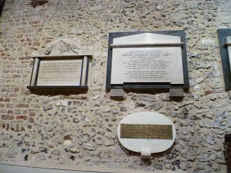 Samuel Richard Block - Plaque to the memory of Block at St John the Baptist Church, Chipping Barnet.
