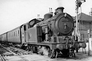 GER Class L77 - N7/3 No. 69693 (with a round-top firebox) at St Margarets 4 April 1959