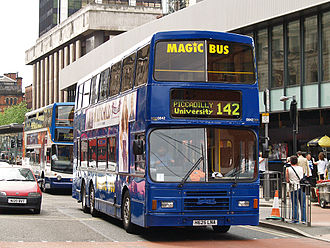 Magic Bus (Stagecoach) - Alexander RH bodied Leyland Olympian in Manchester in July 2008