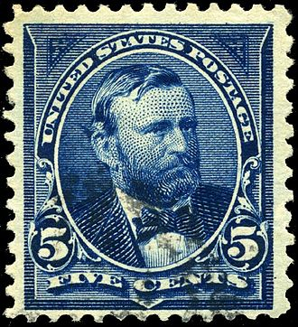 Commemoration of the American Civil War on postage stamps - Image: Stamp US 1898 5c Grant