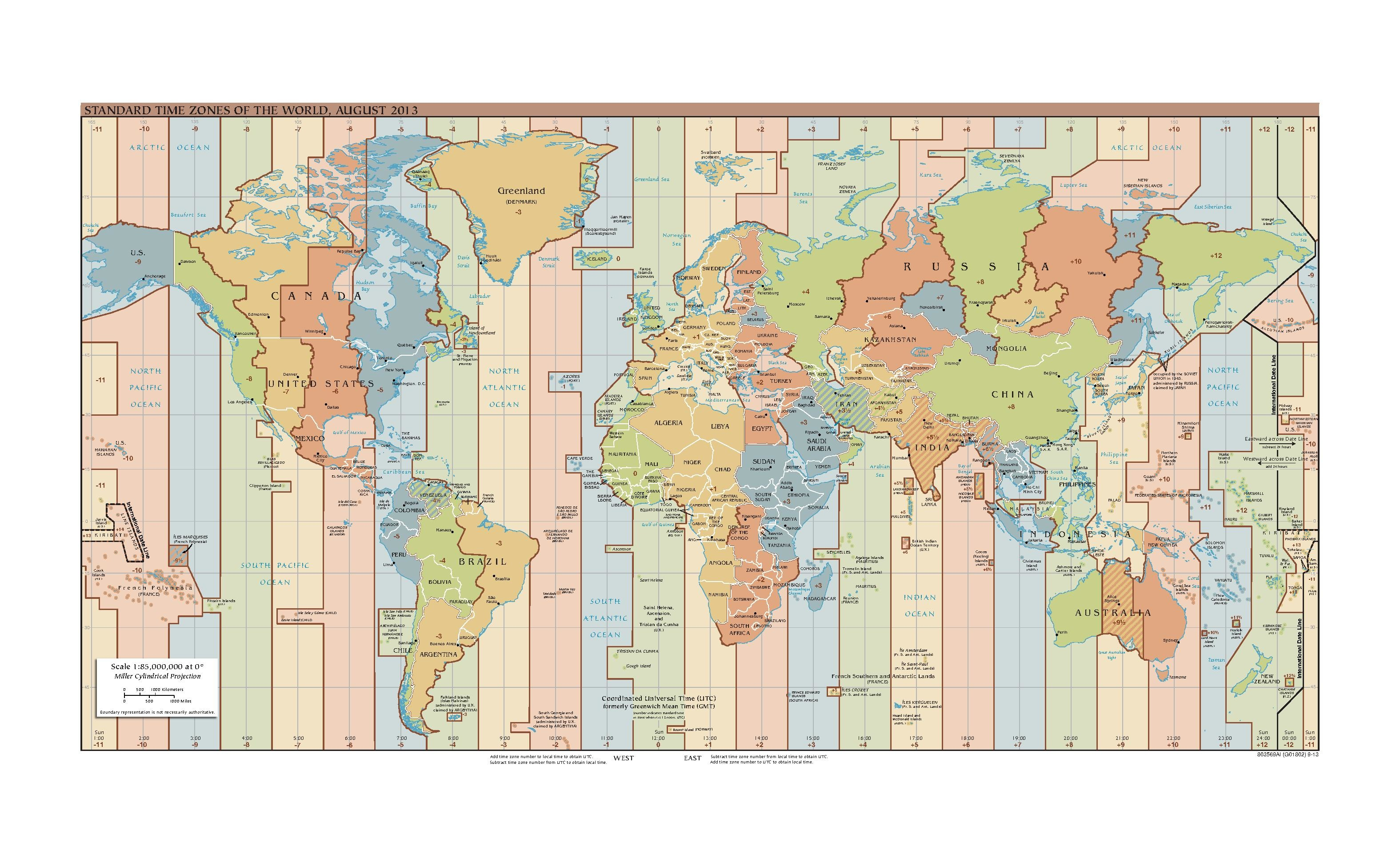 FileStandard Time Zones Of The World August Pdf - Us time zone map pdf