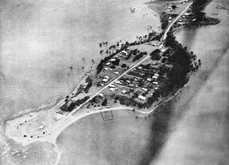 Wellington Point, Queensland - Aerial view of resorts at Wellington Point, 1929
