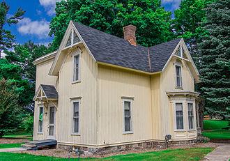 Kalamazoo Regional Psychiatric Hospital - The historic gatehouse in front of the hospital