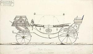 Landau (automobile) - Landau carriage showing the (real) bars folded and unfolded