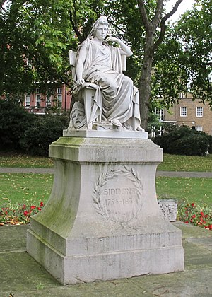 Léon-Joseph Chavalliaud - A statue of Sarah Siddons on Paddington Green