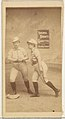 Stealing Second, from the Girl Baseball Players series (N48, Type 2) for Virginia Brights Cigarettes MET DP827396.jpg