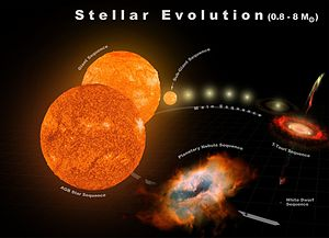 Stellar evolution - Typical stellar evolution for 0.8-8 M☉